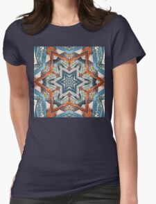 Abstract Geometric Structures Womens Fitted T-Shirt