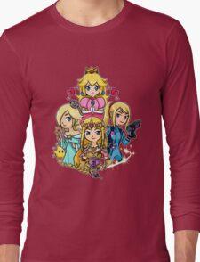 Peach, Samus, Rosalina & Zelda Long Sleeve T-Shirt