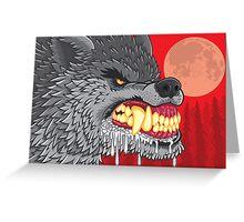Night of the Rabid Werewolf Greeting Card