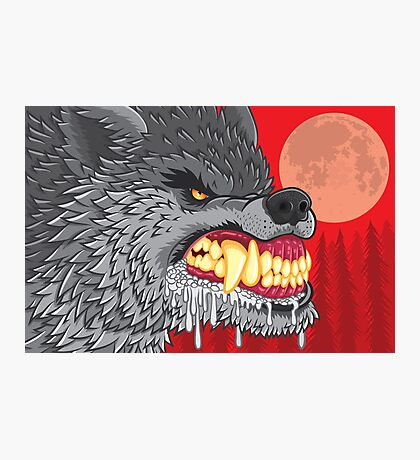 Night of the Rabid Werewolf Photographic Print