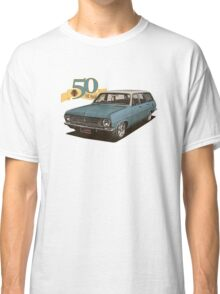 HR Holden Station Wagon - 50th Anniversary - Blue & White Classic T-Shirt