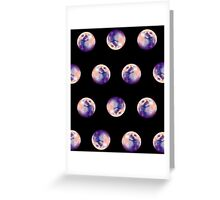 The moon Pattern Greeting Card