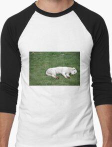 Sleeping White Men's Baseball ¾ T-Shirt