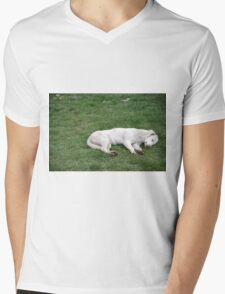 Sleeping White Mens V-Neck T-Shirt