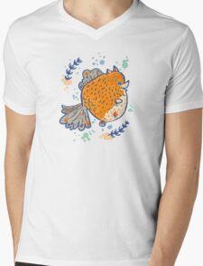 Pomfish Mens V-Neck T-Shirt