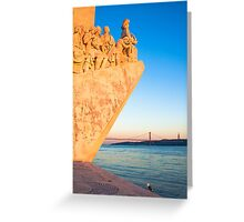 Lisbon . Monument to the Discoveries. Tejo river Greeting Card