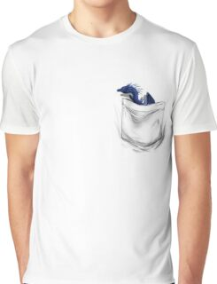 Little Dragon In My Pocket 1 - Blue Graphic T-Shirt