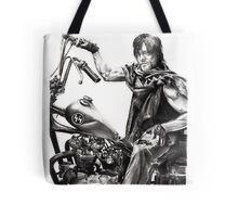 Daryl on his motorcycle Tote Bag