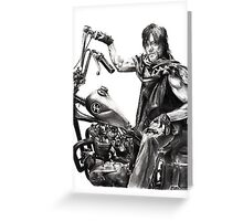 Daryl on his motorcycle Greeting Card