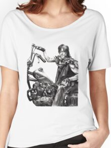 Daryl on his motorcycle Women's Relaxed Fit T-Shirt