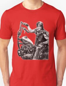 Daryl on his motorcycle Unisex T-Shirt