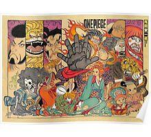 one piece kabuki japanese Poster