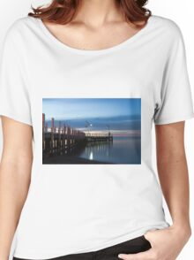 Safety Beach Pier at Dusk Women's Relaxed Fit T-Shirt