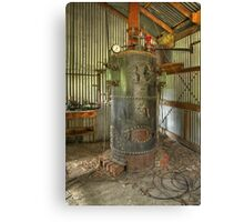 Old Boiler in HDR Canvas Print