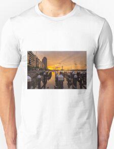 Docklands Sunset Unisex T-Shirt