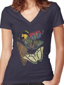 TIR-Butterfly-7 Women's Fitted V-Neck T-Shirt