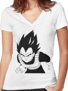 Vegeta - Dragon Ball Women's Fitted V-Neck T-Shirt