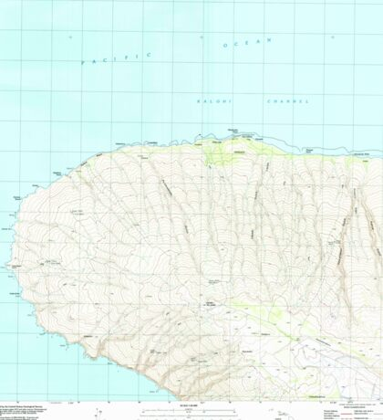 USGS TOPO Map Hawaii HI Garden Of The Gods 349226 1991 24000 Sticker