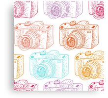 Colored cameras  Canvas Print