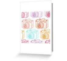Colored cameras  Greeting Card