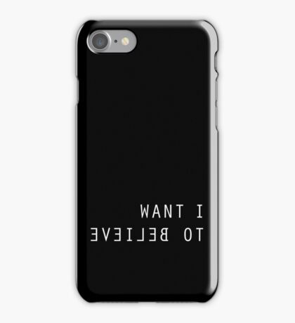 The X Files I Want To Believe Black iPhone Case/Skin