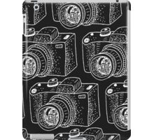 Hand drawn white cameras iPad Case/Skin