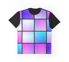 Gradient squares pattern Graphic T-Shirt