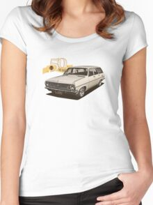 HR Holden Station Wagon - 50th Anniversary - White Women's Fitted Scoop T-Shirt