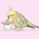 Mummy and Me Cockatiel by Katie Corrigan