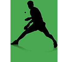 Table Tennis Player Photographic Print