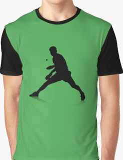 Table Tennis Player Graphic T-Shirt