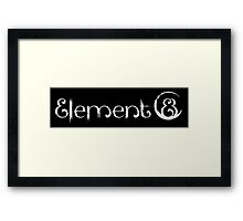 Element 8 - White Framed Print