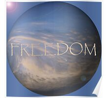 FREEDOM Sphere - BLUE Poster