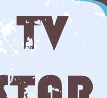 TV Star Retro television set Sticker