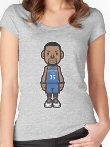 #35 OKC Away 1 Women's Fitted Scoop T-Shirt
