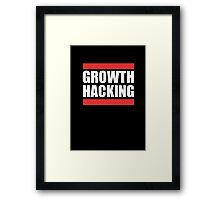 Growth Hacking Marketing Technique Graphic T-shirt Design Framed Print