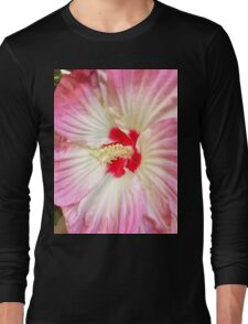 Orchid in Pink and White Long Sleeve T-Shirt