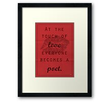 Plato Quote 004 Framed Print