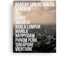 Southeast Asia Capital Cities Canvas Print