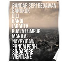Southeast Asia Capital Cities Poster