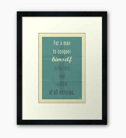 Plato Quote 003 Framed Print