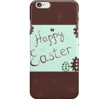 a happy Easter with bunnies,vector illustration iPhone Case/Skin