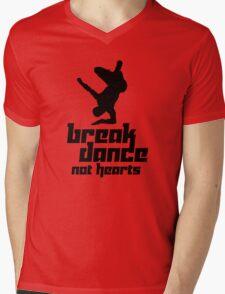 Break Dance Not Hearts Mens V-Neck T-Shirt