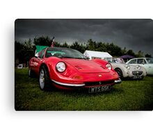 Vintage Red Sports car Canvas Print