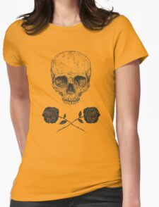 Skull N' Roses Womens Fitted T-Shirt