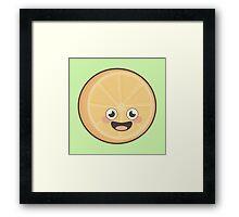 Kawaii Orange Framed Print