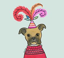 Celebration Boxer Dog by Zoe Lathey