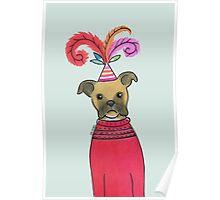 Celebration Boxer Dog Poster