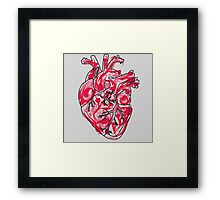 Human Heart: Colors and Doodles Framed Print