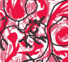 Human Heart: Colors and Doodles Sticker